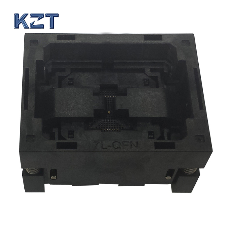 QFN52 MLF52 MLP52 NP506-052-052-SC-G Burn in IC Test Socket Opentop Chip Size 7*7 Programming Socket Flash Connector Wholesale free shipping sop32 wide body test seat ots 32 1 27 16 soic32 burn block programming block adapter