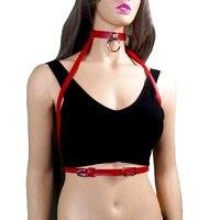 2017 NEW brand design sexy cablaggio cinghie di Cuoio delle donne cinghia corpo fresco collare intorno al collo regolabile fibbie cinghia di vita accessor