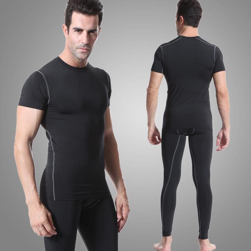 Prix pour 2016 Hommes de Course Jeux De Compression Chemise Pantalon de Sport Collants Costume survêtements Fitness Gym Musculation t-shirt leggings Sport Costume