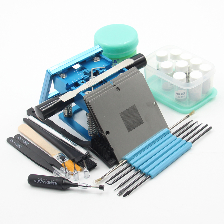 BGA fixtures 90x90 Reballing Station Reballing Bga Sik tin template solder paste soldering flux for Laptop Gameconsole