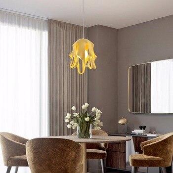 Świetlówki Zbożowe YWXLight Macaron Kreatywny Restauracji żyrandol Nowoczesny Proste Pojedyncze Głowy Lampka Nocna Lampa Stołowa 7 W żyrandol AC 90-265 V