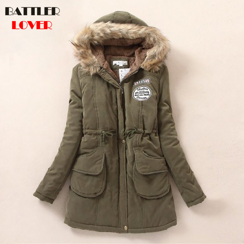 Fashion Jackets Womens Winter Jacket   Parka   Women Casual Warm Outerwear Fur Hooded Clothing Female Mujer Femme Fleece Coats 2018
