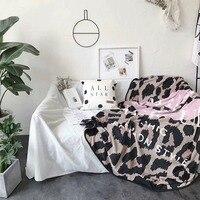Fashion Leopard Pink Lip Design bedspread blanket High Density Super Soft Flannel Blanket for the sofa/Bed/Car