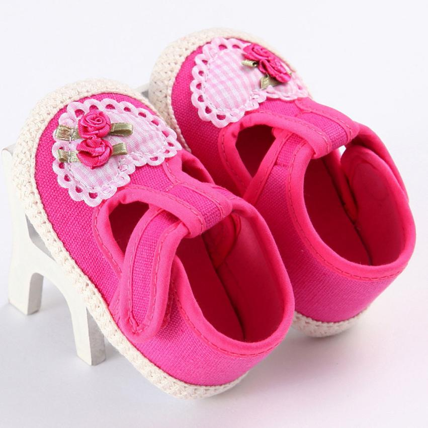 TELOTUNY Toddler Girl Soft Sole Crib Shoes Sneaker Baby Shoes Cloth Soft daily comfortable Anti-slip Crib Shoes S3FEB19