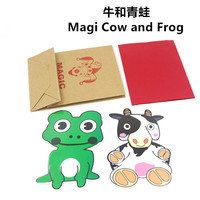 Magi Cow And Frog Magic Tricks Stage Magic Comedy Mentalism Close Up Accessories Toys