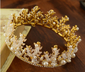 Europe and the United States foreign trade gold handmade crystal Korean round crown crown wedding 0321