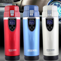 350ML Car Heating Cup Electric Kettle Mug Auto Heating Cup 12 24V Cars Thermal Heater Cups Temperature Coffee Tea Water Bottle