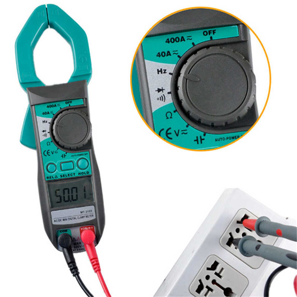 Free Shipping! Pro'skit MT-3109 3 3/4 MT-3109 AC DC Digital Clamp Multimeter AC/DC Current, Frequency, Capacitance Measurement