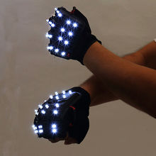 LED Glowing Gloves Rave Light Flashing Finger Lighting Glow Mittens Magic Luminous Party Supplies Halloween