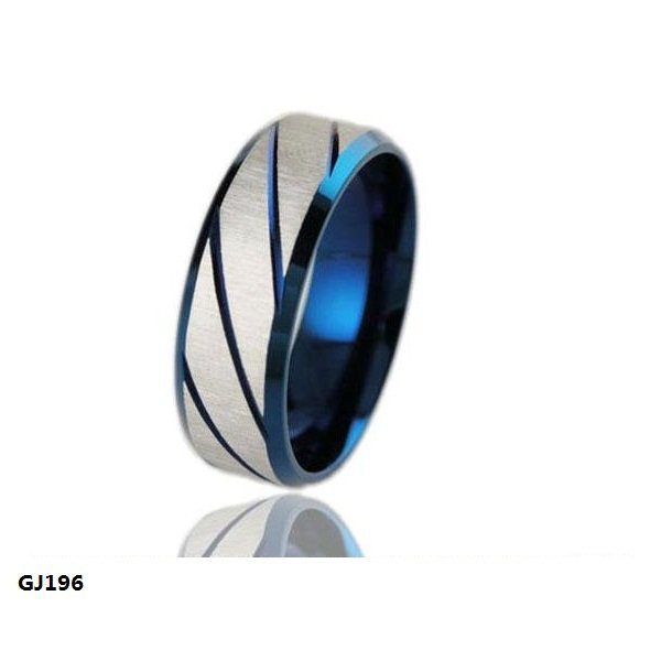 20pcslot superman 316l stainless steel rings silver blue twill dull polish couple rings wedding rings engagement rings - Superman Wedding Rings