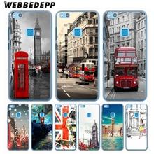 WEBBEDEPP London style Big Ben Telephone Box flag Hard Cover Case for Huawei Nova 2 2S 2i Lite Mate 10 lite 9 Pro