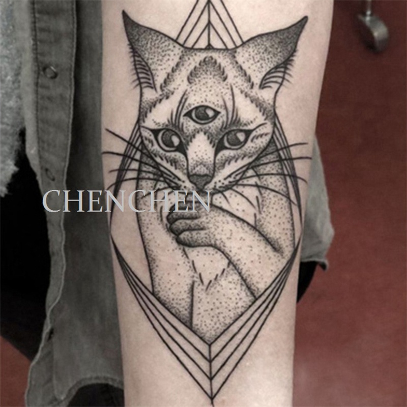 Etiqueta Do Tatuagem Temporária à prova d água lobo floresta animal árvore  tatuagem adesivos flash tatoo tatuagens falsas para mulheres homens braço