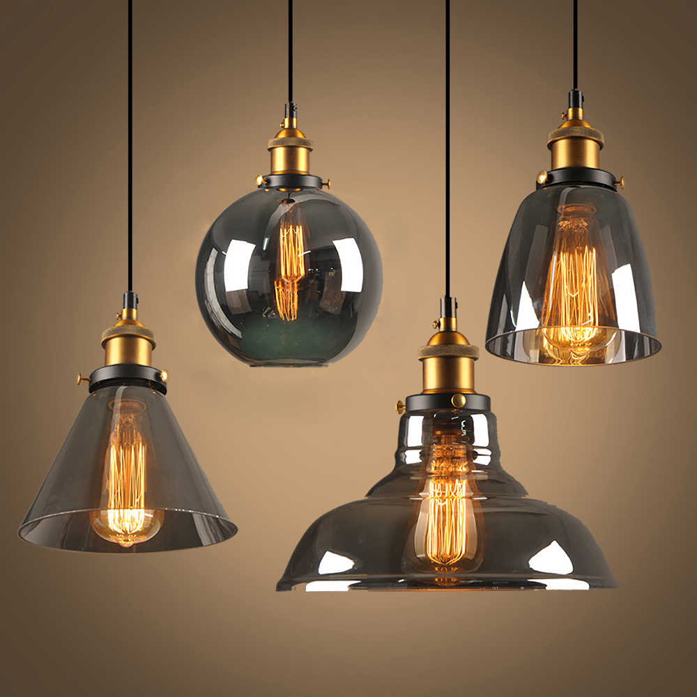 Glass Chandelier Lights Modern Glass Vintage lighting Denmark Ceiling Nordic Lamp Loft Decor Lamparas de Techo Colgante Moderna