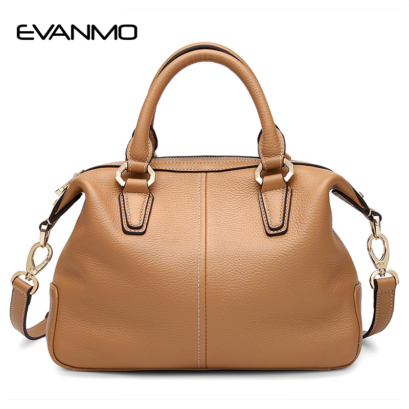New Arrival Famous Designer Shell Bags for Women Genuine Leather Lady Handbag Fashion High Quality Khaki Women Shoulder Tote Bag new split leather snake skin pattern women trunker handbag high chic lady fashion modern shoulder bags madam seeks boutiquem2057