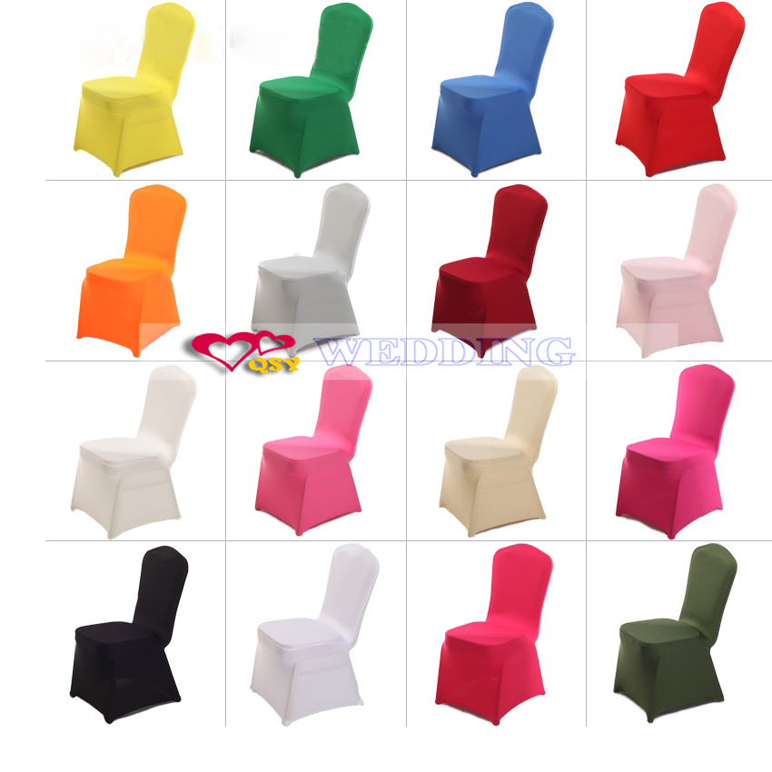 Verwonderlijk Wit stoelhoezen Witte bruiloft decoratie stoel elastische stof AU-52