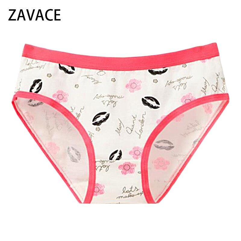 ZAVACE 5pcs lots Burst cotton font b underwear b font M XXXL solid color printing breathable