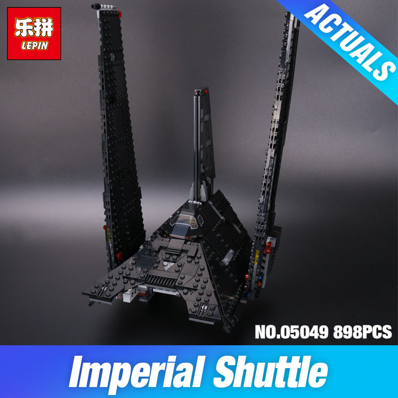 Nova 898Pcs Lepin 05049 Star War Series The Imperial Shuttle Building Blocks Bricks Educational Toys Compatible with 75156 DIY lepin 22001 pirates series the imperial war ship model building kits blocks bricks toys gifts for kids 1717pcs compatible 10210