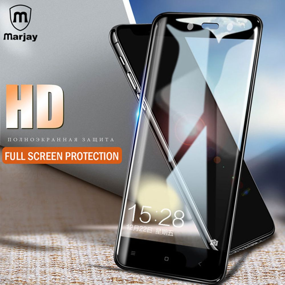 Marjay Full Cover Tempered Glass For Xiaomi Redmi 5 Plus Screen Smile Redmi4x Clear Protector 4x Protection Film Note In Phone Protectors