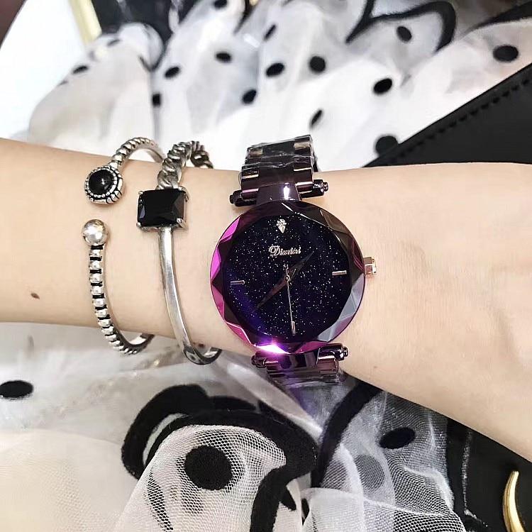 Fashion Stainless Steel ladies Women's Watch Luxury designer Delicate Star Watches reloj mujer relogio feminin wrist watch
