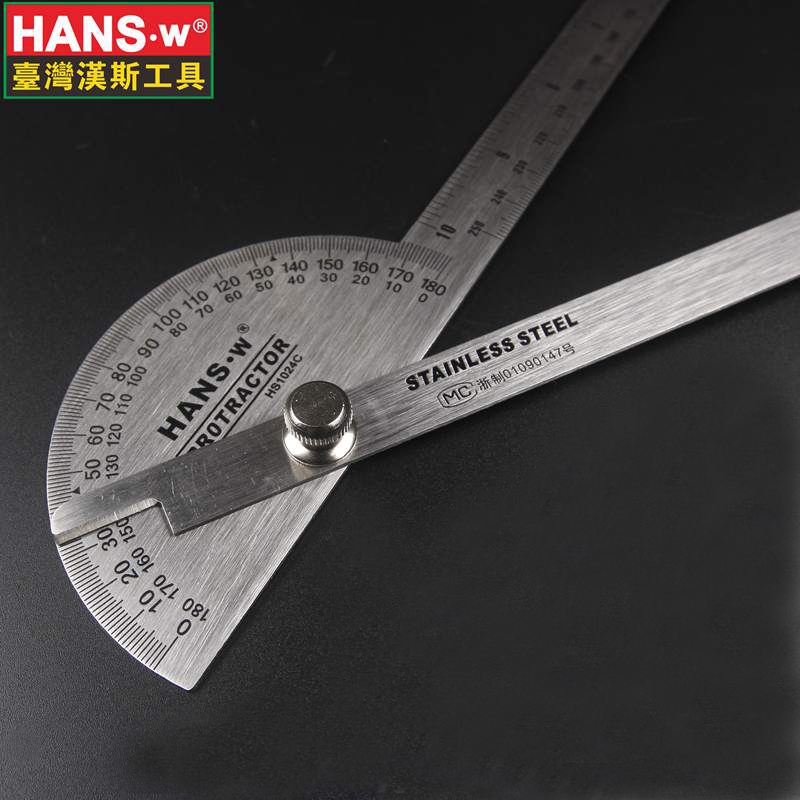 Drafting Supplies 25cm Goniometer Ruler Angle Measuring Tool Protractor Angle Finder Transferidor Metal Protractor