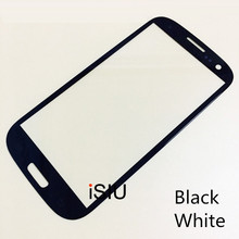 iSIU Mobile Phone Touch Glass For Samsung Galaxy S3 i9300 Panel GT-I9300 Mobile Phone Parts Black White NO DIGITIZER LCD DISPLAY
