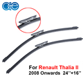 OGE Pair Windscreen Wiper Blade For Renault Thalia II 2008 Onwards,Fit Windshield Natural Rubber Wipers Arm,Auto Car Accessories