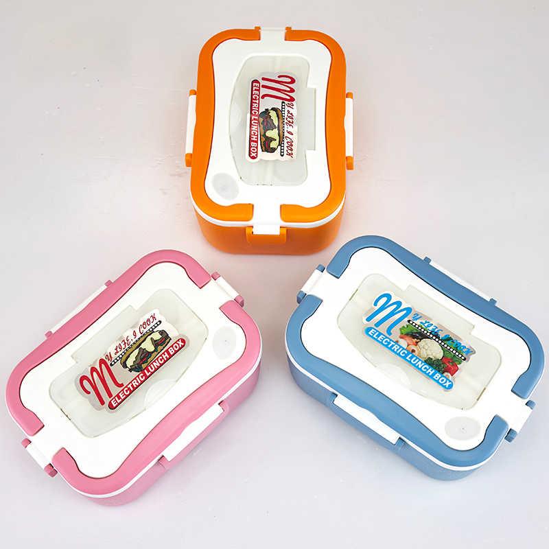 Elektryczne pudełko na lunch elektryczny zestaw obiadowy ze stali nierdzewnej przenośny podgrzewany podgrzewacz do potraw Box 12 V/24 V/220 V dla samochodu/ciężarówki