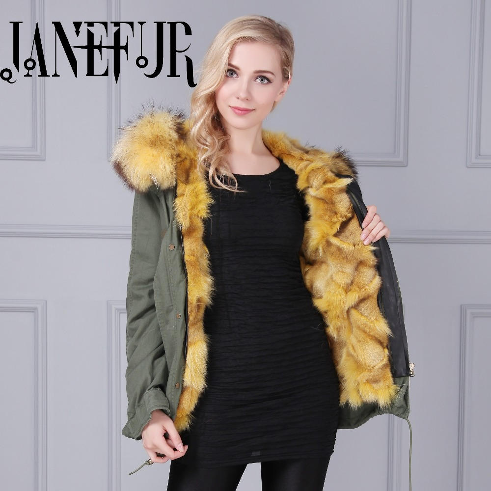 2016 Fashion women's army green Large raccoon fur collar hooded coat parkas outwear detachable Lined down lining winter jacket zoe saldana 2017 winter jacket women detachable lining natural large fur hooded army green cotton coat outwear thick warm parkas