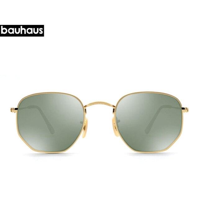 Bauhaus Haute Qualité Hexagonaux Lunettes de Soleil Classique Rétro  Réfléchissant 2017 Hommes Nouveau Mode Vintage Miroir 12678884e936