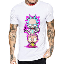 2019 Newest Men T Shirt Rick and Morty Short Sleeve Cotton Tshirt Mens Casual Tops Cool Man Tee Zombie Brain Printed T-Shirts ideal lux спот ideal lux newton ap1 nickel