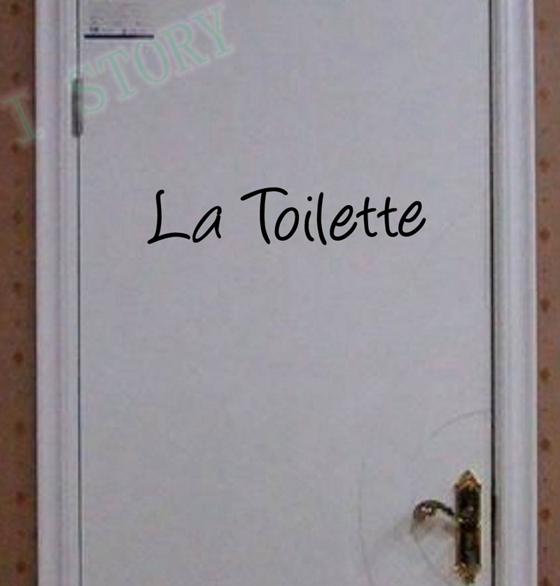 French Home Decoration -Toilet Entrance Sign Sticker La Toilette