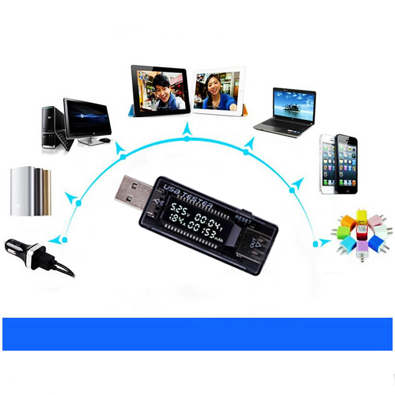 LCD USB detektor voltmetr ampérmetr výkon tester měřič napětí - Měřicí přístroje - Fotografie 6