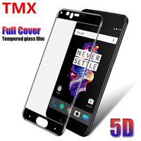 100 Lot HD 9H 5D Full Screen Cover Tempered Glass For Oneplus 5T 5 Screen Protector