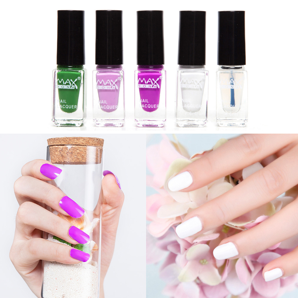 Hot Sale 5pcs/set 6ML Children Pregnant Women Non-toxic Soak Off Nail Polish Water-based Nail Tool