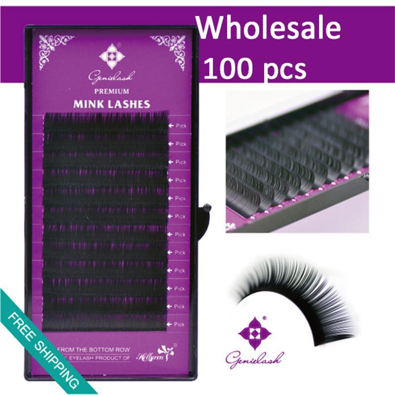 398c7229621 Genie 8 15mm 0.07 0.25mm 3D Volume Wholesale Bulk Mink Individual Eyelash  Extension Salon Use 100pcs/lot-in False Eyelashes from Beauty & Health on  ...
