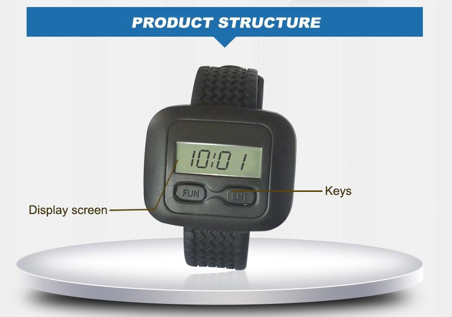 singcall. службы беспроводная кнопка вызова системы для больницы, тюрьмы.5 шт белую и 1 шт кнопку вызова. наручные часы