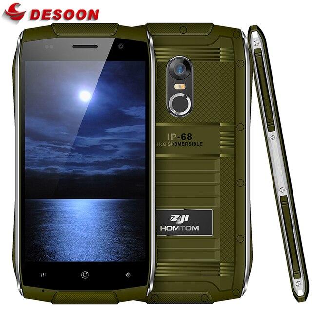 Doogee HOMTOM зоджи Z6 IP6 8 Водонепроницаемый Смартфон Android 6.0 MTK65 8 0 Quad Core HD телефон 1 ГБ Оперативная память + 8 GB Встроенная память 3 г защита от пыли мобильного телефона