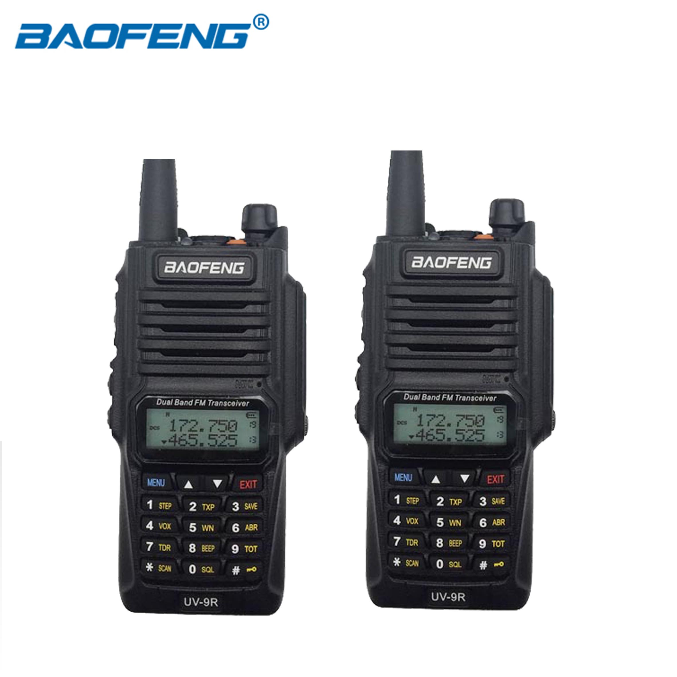 Original Baofeng UV 9R IP67 Radio bidirectionnelle UHF VHF double bande étanche talkie walkie 8W 128CH UV 9R jambon chasse Radio FM 2 pièces-in Talkie Walkie from Téléphones portables et télécommunications on AliExpress - 11.11_Double 11_Singles' Day 1