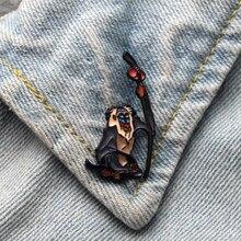 DMLSKY The Lion King Brooch Cartoon Enamel Pins For Women Men Backpack Personality Kids Pin Charm Jewelry M3309
