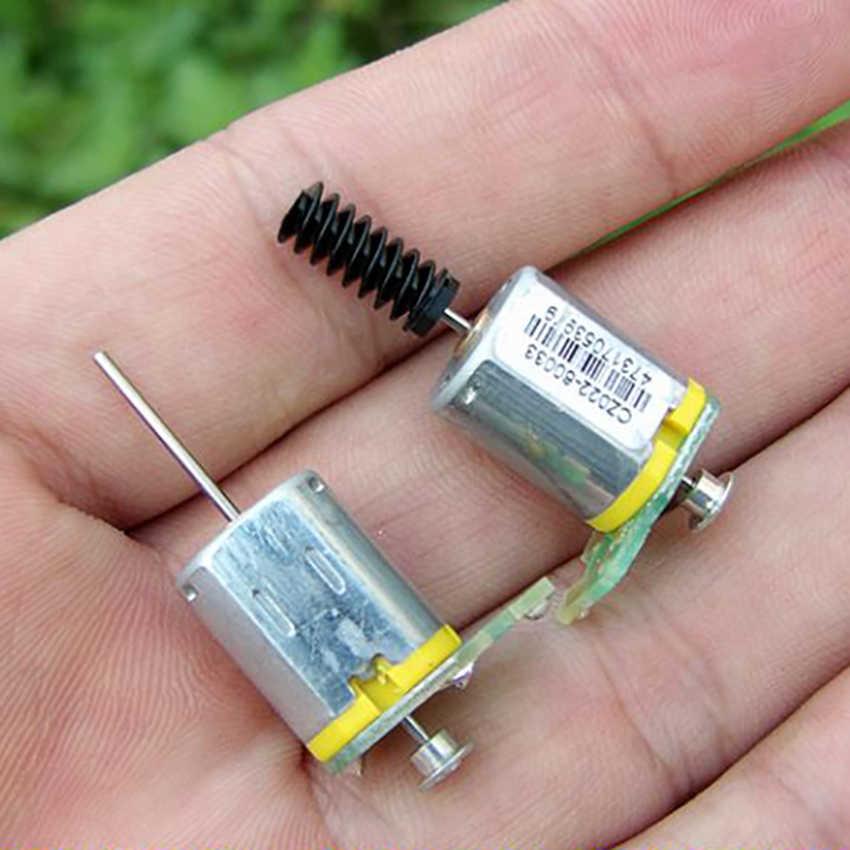 N20 Micro Motor DC 12 V-24 V 40MA-55MA Motor de eje largo con varilla de gusano adecuada para añadir codificador accesorios de bricolaje