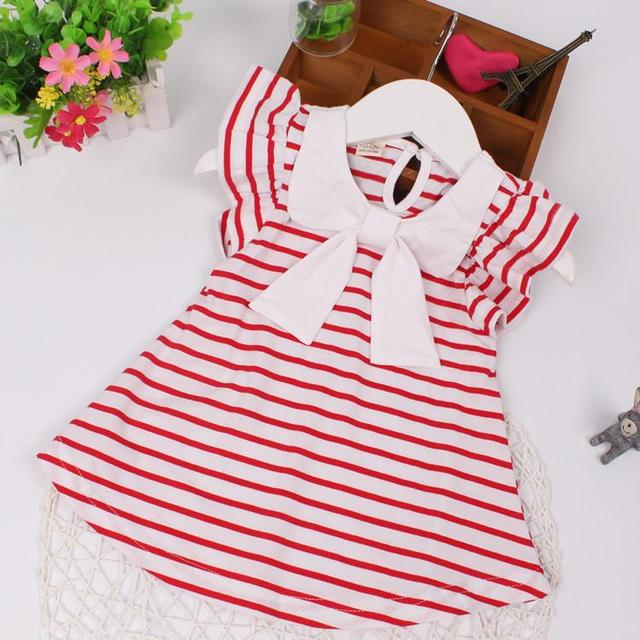 Baby Dress 2017 New Arrival Summer Baby Gils Dress Casual Stripe Newborn Baby Girl Clothes Retail