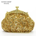 SUNNY SHOP New Christmas Gift  Shinny Sequined Women Evening Bag Women Party Bag Bride Wedding Women Shoulder Bags