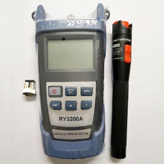 Comprobador de fibra óptica Kit de herramientas con RY3200 medidor de potencia óptica y VFL pluma láser de fibra Localizador Visual de fallos 10mw 20mW 30mW