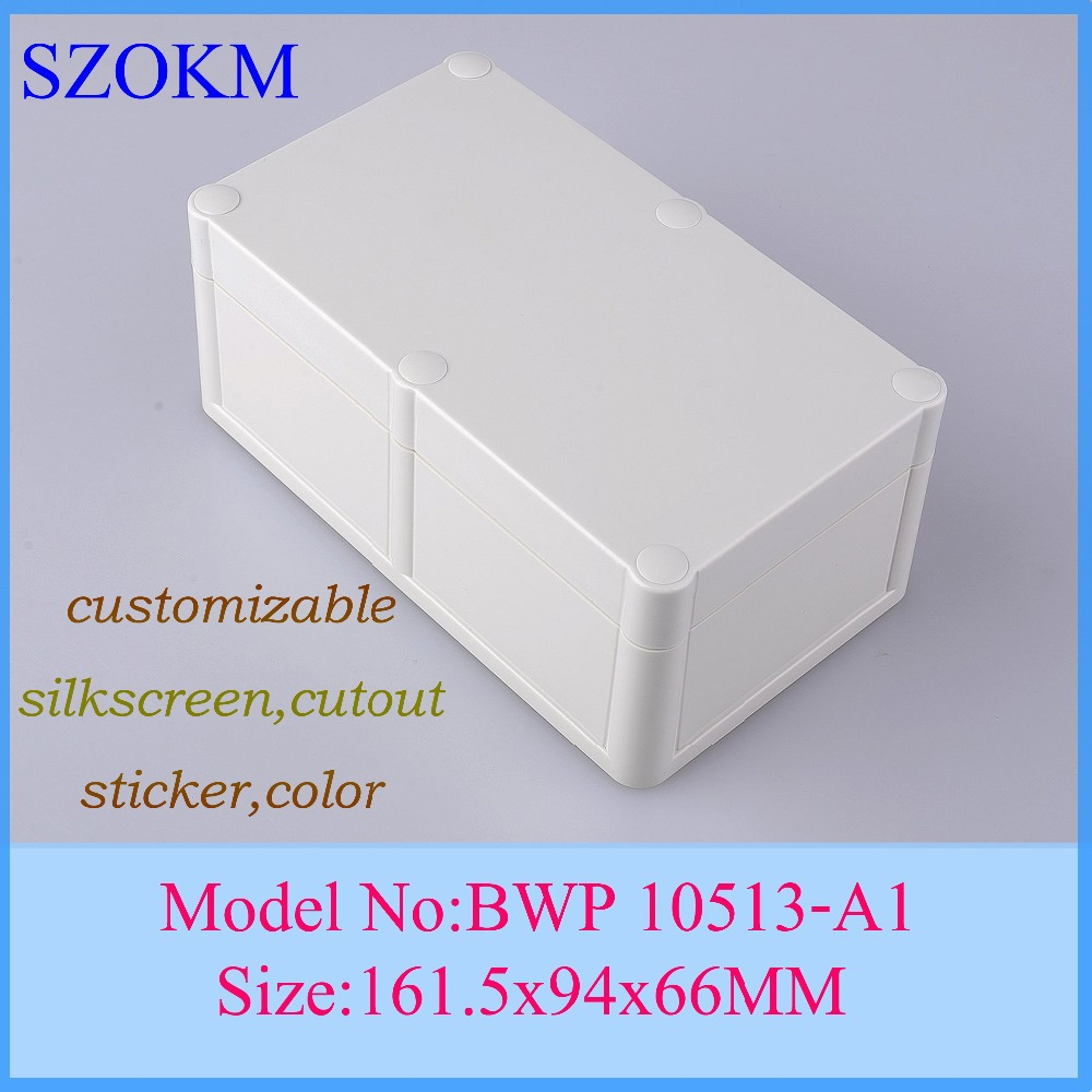 1 piece box hinge electrical box electrical cabinet pcb enclosure plastic electronics housing transparent enclosure 161x94x66mm 4pcs a lot diy plastic enclosure for electronic handheld led junction box abs housing control box waterproof case 238 134 50mm