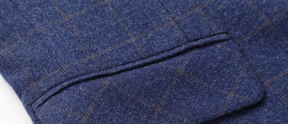 גברים אריג ' קטים, חליפות Slim Fit החליפה מעיל כותנה של המותג באיכות גבוהה לבוש עסקי מזדמן מעיל גודל פלוס מ-6XL כחול נייבי J018