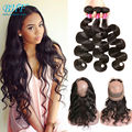 Pre Plucked 360 Frontal With Bundles Brazilian Body Wave With Frontal Human Hair With Frontal 360 Lace Frontal With Bundle Body