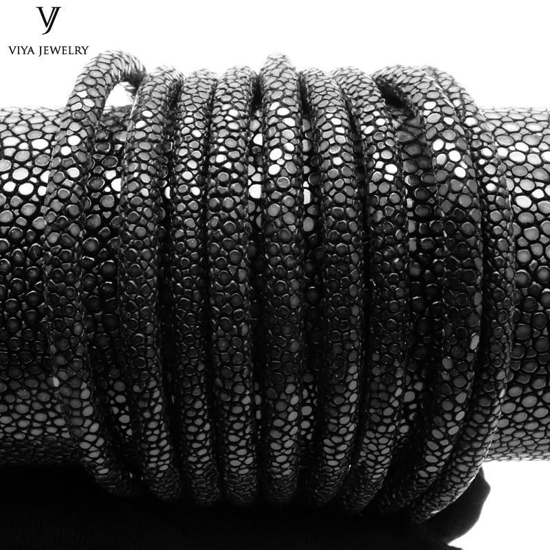 Length of 20.5cm Genuine Stingray Leather Cords Real Stingray Leather Jewelry Rope 4mm/5mm/6mm Black Stingray Cord For Bracelet игрушка jada 2009 corvette stingray concept 84210 1
