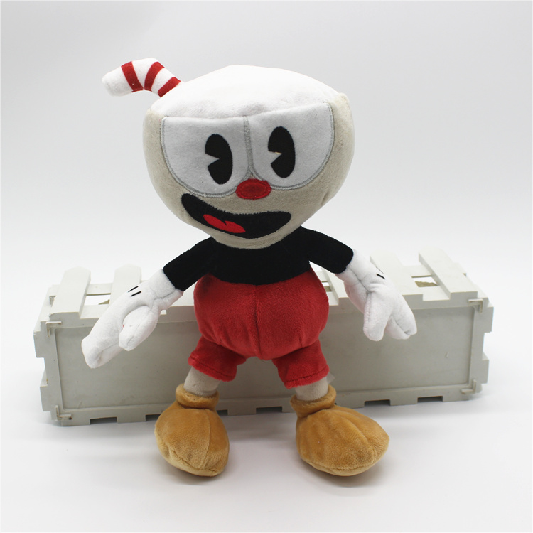 Free Shipping 1 piece Original Game Cuphead Plush Toys Red Blue Cuphead and Villain BOSS Soft Doll For kids Gifts&birthday