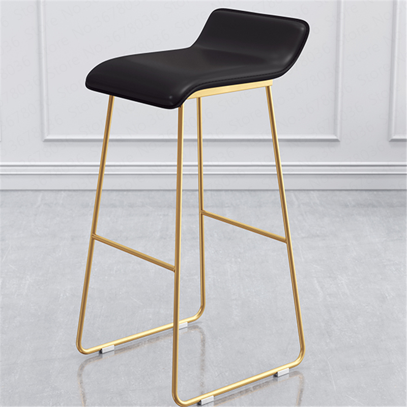 New Nordic Bar Stools Cafe Lounge Stool Simple Bar Stool Designer Wrought Iron Gold High Chair Padded Bar Chair
