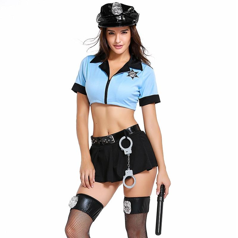 Sexy Police Uniforms Temptation Policewoman Halloween Costume